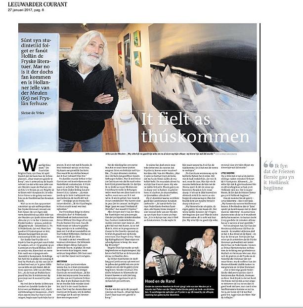 interview Leeuwarder Courant 27 januari 2017